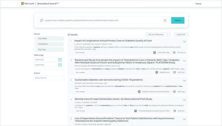 Microsoft présente BioMed Search, un outil permettant d'effectuer des recherches d'informations dans la littérature biomédicale