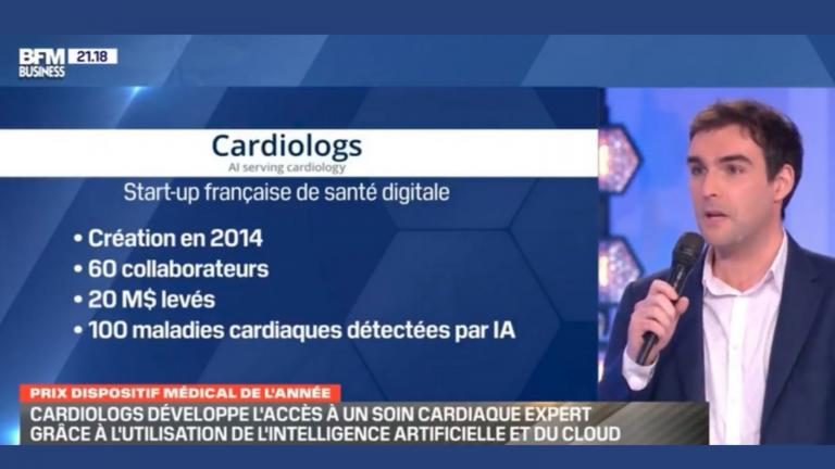 Cardiologs reçoit le prix du dispositif médical 2020 des grands prix BFM Business de la santé
