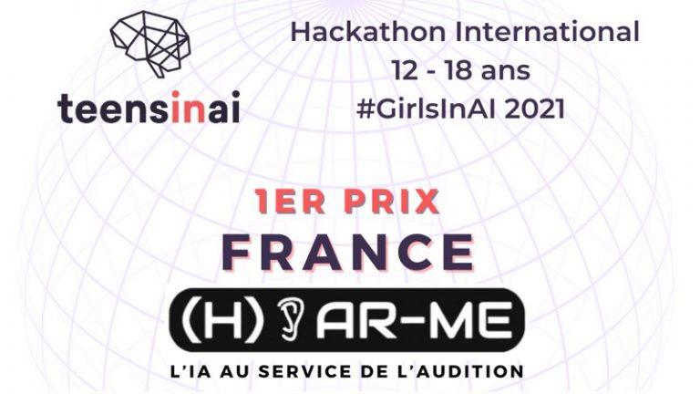 Une équipe française remporte le premier prix du hackathon #GirlsInAI2021 avec un projet d'aide aux malentendants
