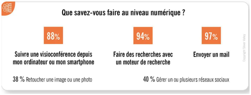 compétences numériques sondage séniors mail visioconférence moteur recherche réseaux sociaux