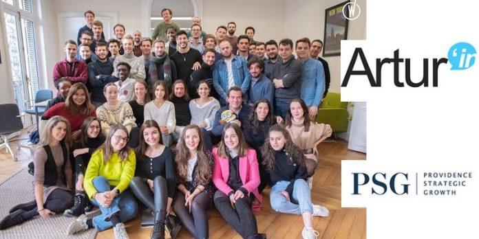 Artur'In PSG Europe fonds investissement solution marketing digital intelligence artificielle