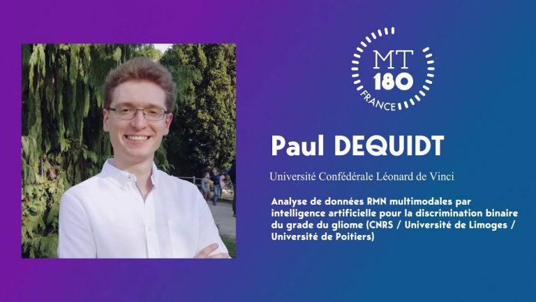 Ma thèse en 180 secondes : Paul Dequidt, doctorant en IA, vainqueur de la finale nationale