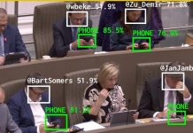 Flemish Scrollers applications reconnaissance visuelle politicien smartphone machine learning