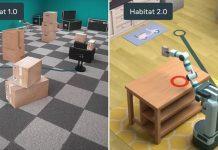 Habitat Facebook AI Research simulateur dataset 3D données environnement espaces modélisation tâches domestiques intelligence artificielle