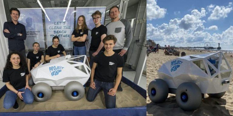 BeachBot, le robot autonome qui lutte contre la pollution des plages en ramassant les mégots de cigarettes