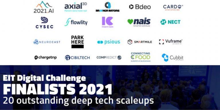 Trois start-up françaises sélectionnées parmi les vingt finalistes de l'EIT Digital Challenge 2021