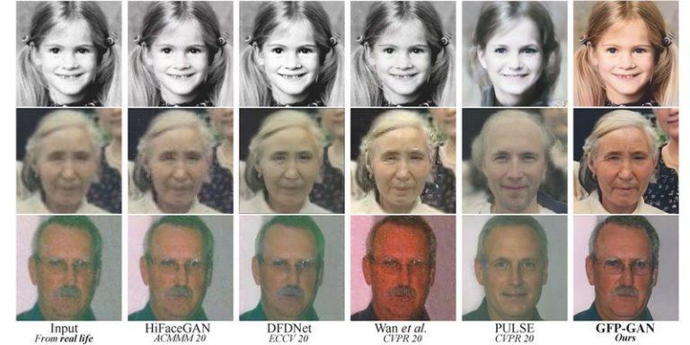 GFP-GAN, un modèle de restauration d'images exploitant les GAN avec des résultats prometteurs