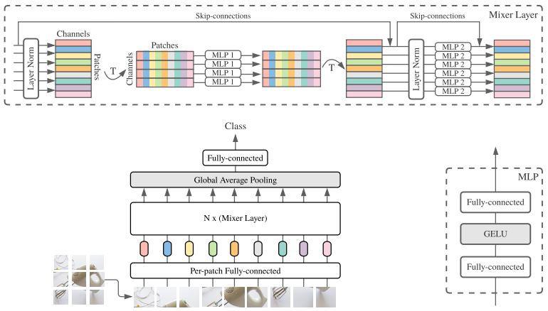MLP-Mixer architecture