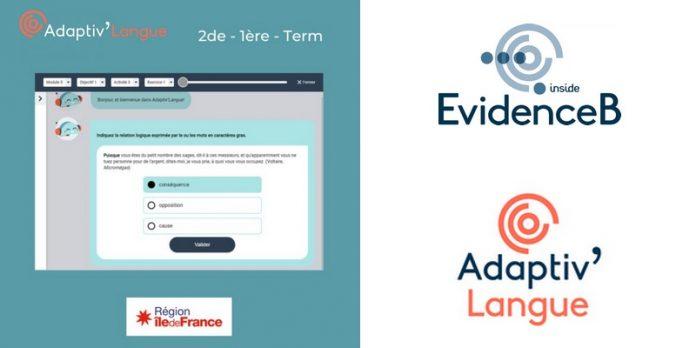 Adaptiv Langue EvidenceB start-up éducation intelligence artificielle algorithme module apprentissage