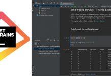 JetBrains éditeur logiciels environnement programmation data science