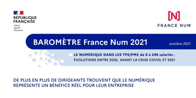 France Num publishes the 1st Barometer on the digital transformation of VSEs/SMEs conducted by CREDOC